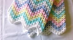 Large Rainbow of Colours  Baby Blanket by AnkasCrochet on Etsy