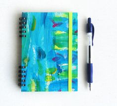 Notebook Jotter  Turquoise Elastic band Hand por kinmcuadernos, €12.00