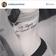 No regrets tattoo, more at tattoo-swag.com