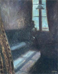 """Edvard Munch's """"A Night in St. Cloud"""". The same gentleman who created """"The Scream""""... but this is more unsettling. Lonely, yes, but also suggestive of otherworldliness."""