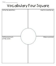 Vocabulary four square     Pinterest survery - Get $100 gift card http://bit.ly/HgeUrG