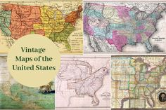 Free old map of Texas and 9 other Southern States - Picture Box Blue Antique World Map, Antique Maps, Copyright Free Pictures, North America Map, Picture Boxes, Map Of New York, London Map, Country Maps, United States Map