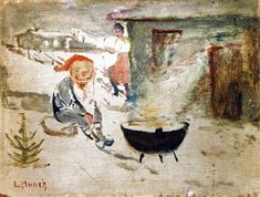 Edvard Munch's Goblin With Christmas Porridge, 1881