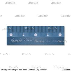 54 best business card templates images on pinterest business card skinny blue stripes and bead customizable designer mini business card accmission Images