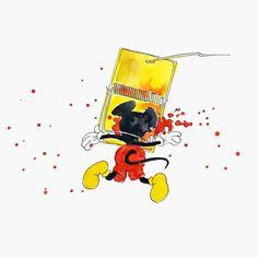 Franck sur Instagram: Jour 18 du défi de dessin @inktober de @jakeparker, sujet du jour TRAP (piège). Bon désolé pour les fans de Mickey je n'ai pas pu résister…