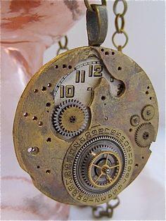 Steampunk watch parts necklace - Orbit - Steampunk Necklace- Repurposed art