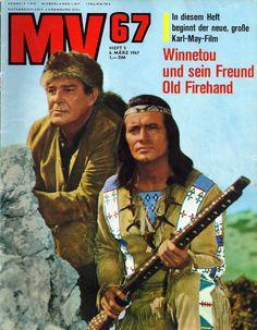 """Comics MV 67 (Mickyvision)  Von 1962 bis 1993 erschien die Zeitschrift """"Mickyvison"""". Darin gibt es in den 60er Jahren drei Serien von Fotoromanen nach Karl May: Ols Surehand 1 (14 Folgen), Winnetou und das Halbblut Apanatschi (14 Folgen) und Winnetou und sein Freund Old Firehand (16 Folgen). Die Bilder sind mit Textlegenden versehen und stammen aus den Karl May Filmen. Gleiche Fotoromane gab es in """"Bild und Funk"""", """"Gong"""", """"Micky Maus"""" und """"Bunte Illustrierte""""."""
