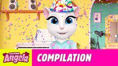 Talking Angela - My Party Video Compilation xo, Talking Angela  #party #YouTube #video #TalkingAngela #MyTalkingAngela #LittleKitties