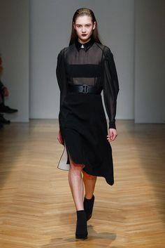 Wool crepe skirt and silk chiffon top for AquilanoRimondi FallWinter 2017-18 collection.