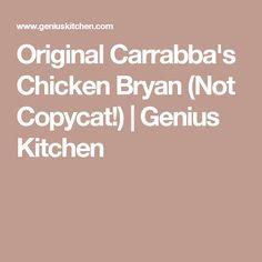 Original Carrabba's Chicken Bryan (Not Copycat!) | Genius Kitchen
