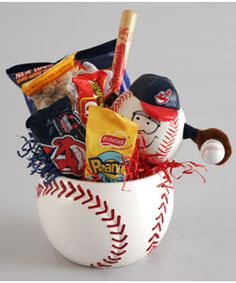 The League Snacks and Baseball Gift Basket