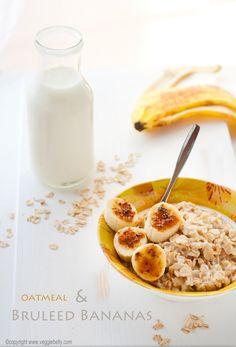 bruleed bananas and oatmeal