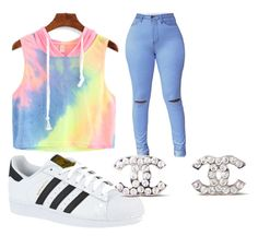 """""""how to wear adidas"""" by jjaliyah on Polyvore featuring adidas and Chanel"""