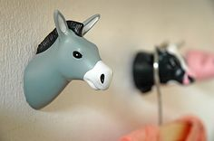 Farm Animals DONKEY. Coathooks. Design: Jorine Oosterhoff