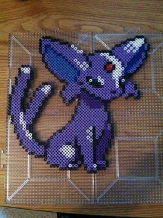Espeon Pokemon Perler by Khoriana on DeviantArt