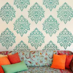Beautiful stencils better than wallpaper