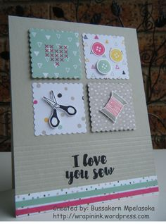 Love You Sew card
