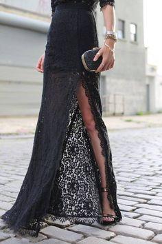 Lace maxi dress- Bringing the drama