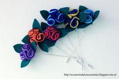 Alfiles de fieltro para eventos http://accesoriosdulcescaramelos.blogspot.com.es/search/label/Alfileres%20y%20broches%20de%20flores%20y%20mariposas