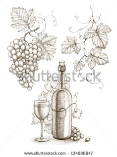 Stock Images similar to ID 114341248 - hand drawn label vineyards...