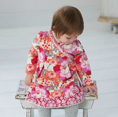 Baby Girl empire line floral pink dress – ukookoo