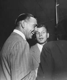 Clark Gable and Joseph Cotten