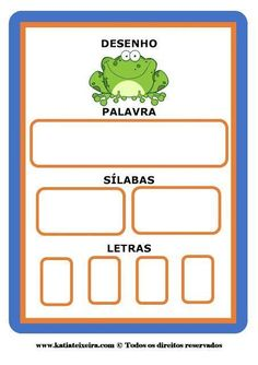 Literacy Worksheets, Math Literacy, Alphabet Games, Syllable, English Words, Learning Spanish, Kids Education, First Grade, Speech Therapy