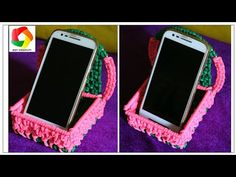 DIY Mobile Stand  how to make Macrame Mobile Holder full step by step video  Using waste Macrame - YouTube