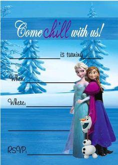 Free Frozen Birthday Party Invitations by lyneeka.shield
