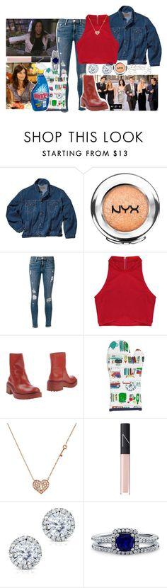 """Monica geller"" by midgem123 ❤ liked on Polyvore featuring NYX, Frame Denim, Rituals, Kenzo, Kate Spade, Sydney Evan, NARS Cosmetics, Kobelli and BERRICLE"