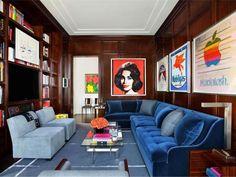 Drew Aaron and Hana Soukupova's Manhattan Apartment | Interior Designer: Mark Cunningham