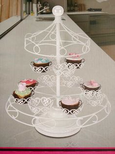 Charmed Carousel Cupcake Stand Holds Up To 12 Cupcakes White Wedding Birthday