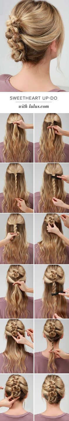 LuLu*s How-To: Sweetheart Twisted Up-Do                                                                                                                                                                                 More