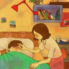 Apapucharte cuando estás enfermo.