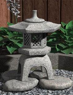 Yukimi (Stone Lantern) in Vendor, Models by Daz Japanese Garden Lanterns, Japanese Stone Lanterns, Japanese Garden Landscape, Small Japanese Garden, Japanese Garden Design, Chinese Garden, Japanese Gardens, Garden Theme, Garden Art