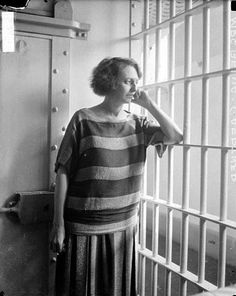 Women's Prison Uniform. Belva Gaertner murderess whose trial records became the basis for the musical Chicago. 1924.