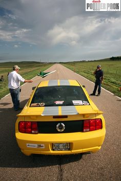 A #Ford #Mustang takes off at the 1/2-mile shootout at the Sandhills Open Road Challenge.