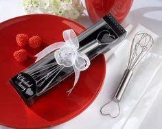 "WedFavors For You - ""Whisked Away"" Heart Whisk, $1.71 (http://www.wedfavorsforyou.com/products/whisked-away-heart-whisk.html)"