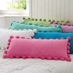 pom-pom pillows. So fun!