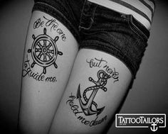 Buy this anchor thigh tattoo from www.tattootailors.com