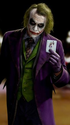 Joker With Card IPhone Wallpaper - IPhone Wallpapers