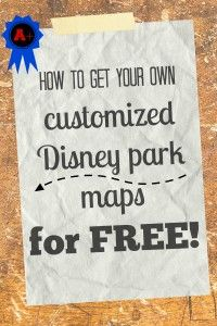 Did you know that Disney will send you a customized map of any of their Walt Disney World parks for FREE!?