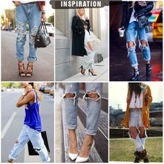TREND SS14 - Destroyed Jeans   Outfit Ideas