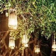 More lovely lanterns. Soft light shines through vintage lanterns hung from tree branches. Perfect for an outdoor reception on a late spring or summer wedding. Tree Lanterns, Hanging Lanterns, Diy Wedding Gifts, Cute Wedding Ideas, Wedding Things, Wedding Stuff, Wedding Inspiration, Outdoor Wedding Reception, Wedding Reception Decorations
