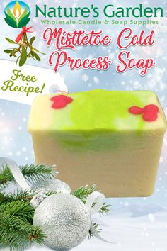 Free Mistletoe Cold Process Soap Recipe by Natures Garden.