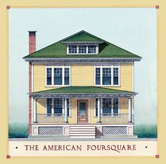 Our home is a 1913 American Foursquare (or, Prairie Box).  I love the symplicity of its design.