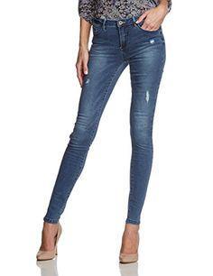 ONLY Damen Skinny Jeanshose Onlultimate Reg Sk Jeans Bj5001 - 3 Noos, Gr. W25/L32 (Herstellergröße: 25), Blau (Medium Blue Denim)