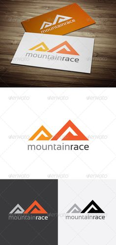 Mountain Race Logo  #GraphicRiver         This logo design for all creative business. Consulting, Excellent logo,simple and unique concept.  Logo Template Features   Photoshop File CMYK