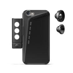 Kit custodia per iPhone 6, luce LED, tele 3X e fisheye