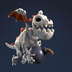 Dragon Clash, Coc Clash Of Clans, Dragon Skeleton, Attack On Titan Art, Baby Dragon, 3d Max, Dark Ages, Creature Design, Pokemon Cards